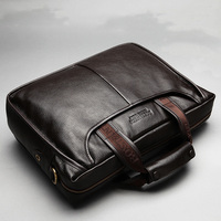 New Fashion Male Commercial Briefcase Real Leather Vintage Men's Messenger Bag Genuine Casual Natural Leather Men Business Bag