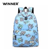 Качества победитель Водонепроницаемый Симпатичные печать рюкзак женщин ноутбук сумка рюкзак для девочек-подростков рюкзак для школы