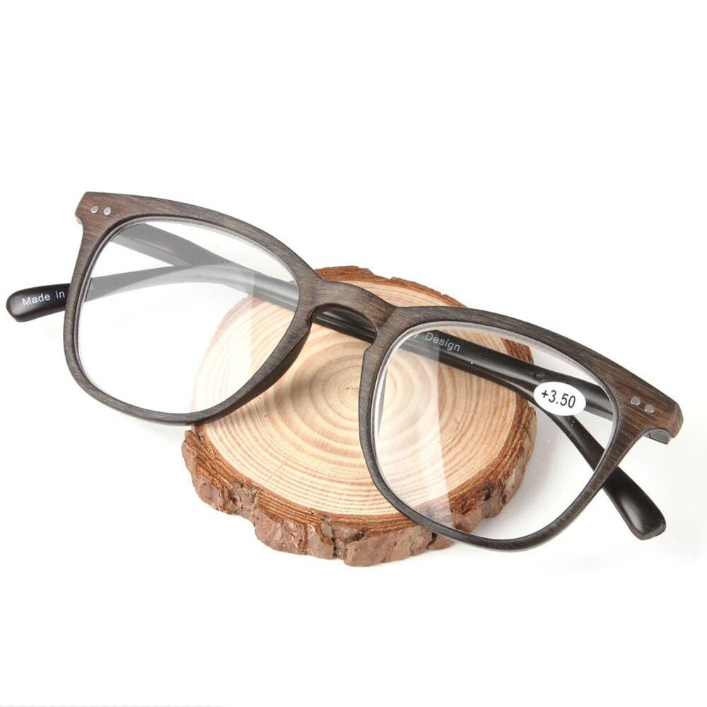 a72c9de6fa 2018 New Imitation Wooden Color Oversize Plastic Frame High-grade Presbyopia  Glasses Frame Spring Reading