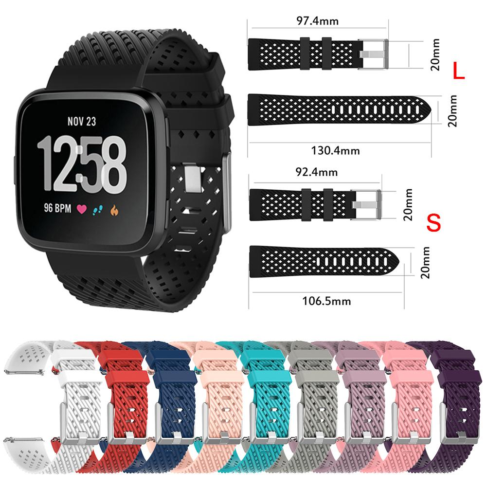New Arrival Personality Soft Silicone Replacement Wrist Strap Watch Band Strap For Fitbit Versa Smart Watch S/L 10 Colors kimisohand quality soft silicone watch band wrist strap for fitbit blaze smart watch fashion brand design 2016 new arrival