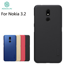 For Nokia 3.2 Case Cover Nillkin Frosted Shield Hard PC Back Phone Cover For Nokia 3.2 nillkin protective dlip open pu leather pc case for nokia lumia 830 black