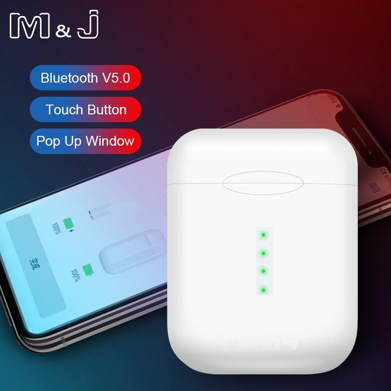 M & J V8 TWS 1:1 Pop-up 6D Super Bass Bluetooth 5.0 Fones De Ouvido fone de Ouvido Sem Fio PK i20 i10 TWS i12 XY pod lk Chip te9 i30 i60