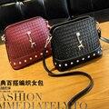 2016 новый стиль модные женские маленькая сумка высокого качества PU кожаный мешок кроссбоди сумка вязание и алмазов мешок
