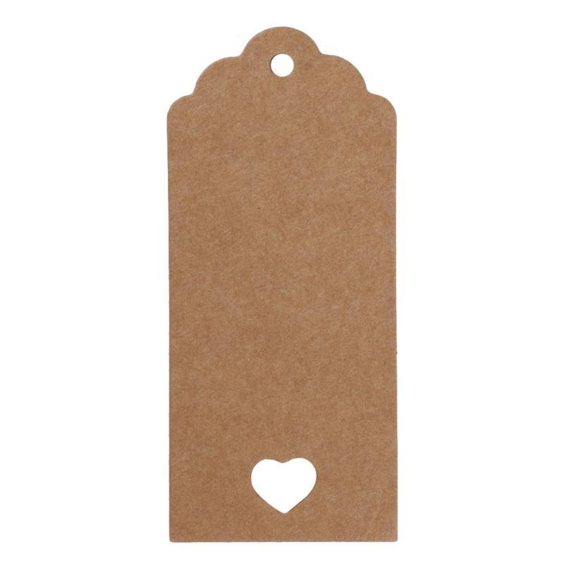 50 шт. крафт-бумага свадебный подарок ценники 10 м веревка гребешок этикетка для дома Декор Спальни молодоженов - Цвет: 01