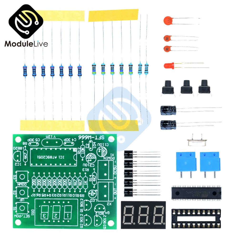 DS18B20 AT89C2051 Microcontroller Kit Digital Temperature Controller LED Alarm DC 5V Thermometer Electronic Suite DIY Temp