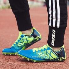 Детские спортивные кроссовки; сезон весна-осень; детские кроссовки для мальчиков; цвет синий, зеленый; обувь с шипами; дышащая Спортивная обувь для девочек