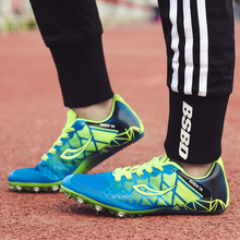 Children's Track Sneakers Spring Autumn Kids Trainers Boys Blue Green Spikes Shoes Athletics Girls Breathable Sport Shoes