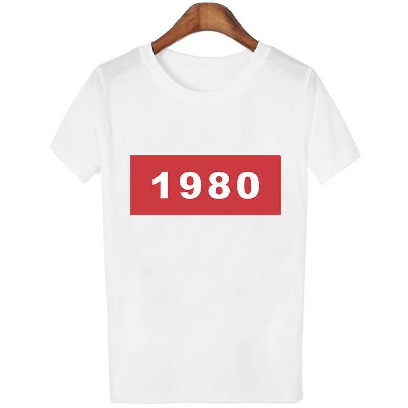 1980 In Ngắn Tay Áo Áo Sơ Mi phong cách Hàn Quốc Tops O Cổ Thời Trang Áo Sơ Mi Trắng Giản Dị Phụ Nữ Áo Sơ Mi Nữ Quần Áo