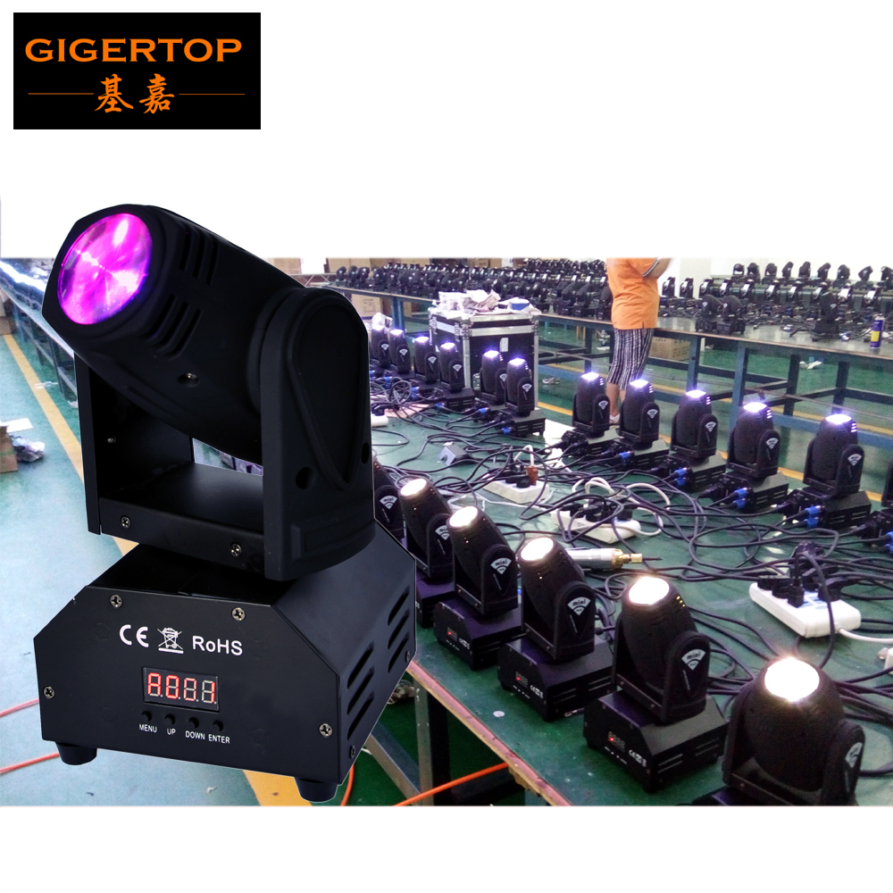 TIPTOP 10Xlot DJ LED Moving Head Lighting 15W Beam Effect RGBW 4IN1 DMX 11/13 DJ Euiptment Stage Party High Quality USA Cree Led niugul dmx stage light mini 10w led spot moving head light led patterns lamp dj disco lighting 10w led gobo lights chandelier