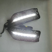 Car Flashing 1 Set For BMW X1 E84 2011 2012 Daylight Car LED DRL Daytime Running Lights Fog head Lamp cover car styling