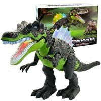 51cm World Park Electric Walking Dinosaur Toys Model Carnotaurus Dilophosaurus Velociraptor Mandible Movable Dinosaurs Gift