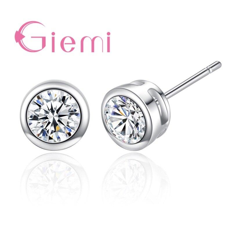 Magical Stud Earrings Mermaid Scale Crystal Pattern Earring Jewelry For Women Lady