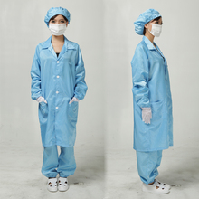 Anti static clothes and Cleanroom Clothes working clothes ESD Coat Clothes Color  Blue&White
