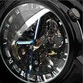 WINNER Fashion Brand Casual Man Male Clock Military Business Skeleton Automatic Mechanical Sport Luxury Wrist Dress Watch 185