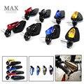 Motocicleta 4 color bar end espejo para kawasaki ninja zx6r 2000-2004 2004-2005 z1000 Zx10r y 2003 2004 2005 2006 e zx12r