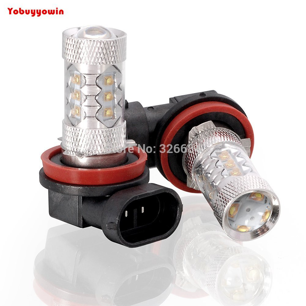 2Pcs <font><b>16</b></font>(JP) PGJ19-3 19W/80W Pure White <font><b>Led</b></font> Car Bulb OEM <font><b>Fog</b></font> Running Driving Light <font><b>Lamp</b></font> For Toyota RAV4 and Japanese Cars image
