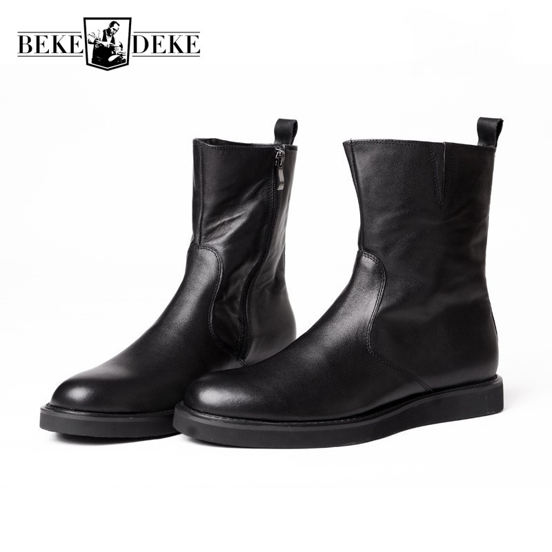 High Quality Mens Winter Boots Top Brand Genuine Leather Rome Motorcycle Riding Boots High Top Man Footwear British Casual Shoes все цены