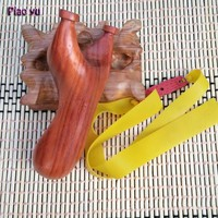 Outdoor Pear Slingshot Hunting Rubber Band Wood Slingshots Shooting Catapult Pocket Shot Slingshot Crafts Collection|slingshot hunting|wooden slingshot|shot slingshot -