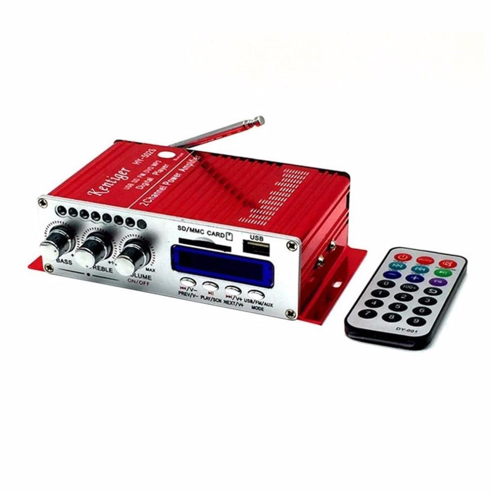 Mini Bluetooth Hi-fi Stereo Audio Bluetooth Power Amplifier FM/MP3/SD/USB/DVD For IPod Phone Car Motorcycle