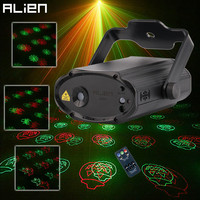 ALIEN Red Green 12 Patterns Halloween Remote Laser Stage Projector Lighting Effect Christmas Party Holiday Dance
