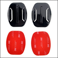 Gopro accesorios 2x flat mount con 3 m vhb adhesivo pegajoso para gopro hero 4/3 +/3/2/1