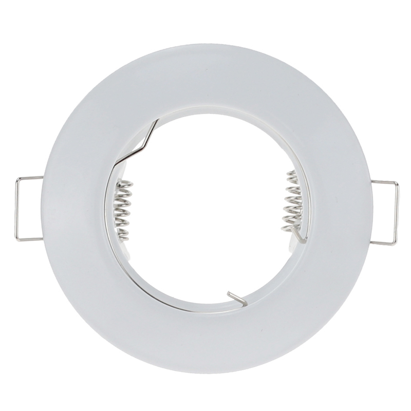 Hot Sale Metal White Round Waterproof Recessed Spotlight Mounting Frame MR16 GU10 Base Socket Lighting Fixture Cutout 55mm