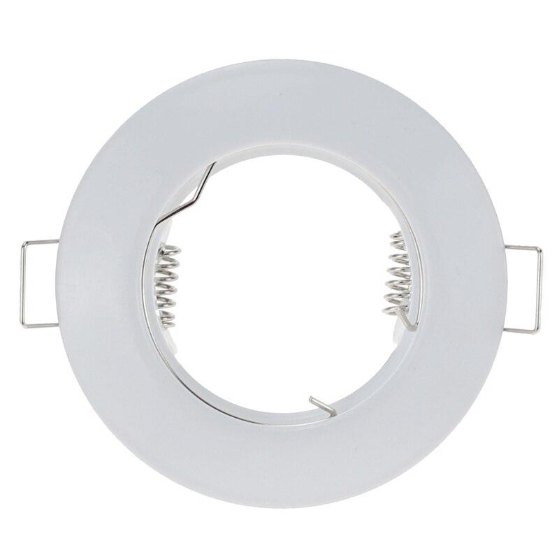 White Round Waterproof Recessed Spotlight Mounting Frame MR16 GU10 Base Socket Lighting FixtureWhite Round Waterproof Recessed Spotlight Mounting Frame MR16 GU10 Base Socket Lighting Fixture