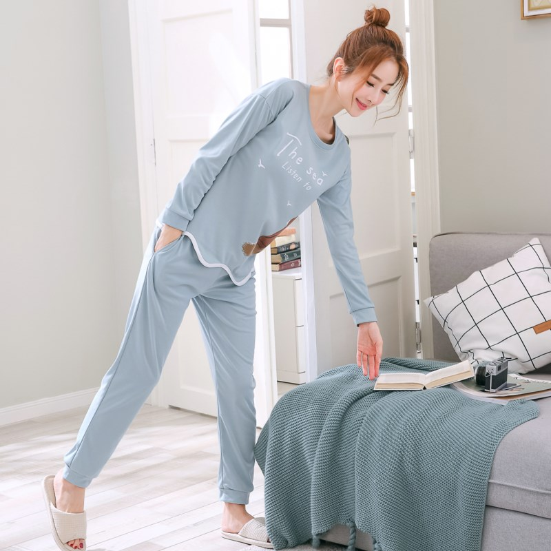 Pijama Cotton   Pajamas     Set   For Women Pyjamas Sleepwear Girl Household Suit Female Clothing   Set   2019 Pizama Damska