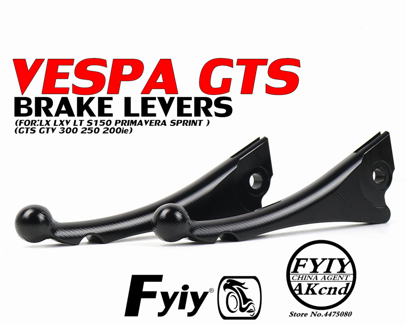 Motorcycle brake levers Front Disc Rear Drum Brake Lever For piaggio Vespa GTS 300 250 200ie 946 LX LXV LT S150 primavera sprint-in Brake Shoe Sets from Automobiles & Motorcycles