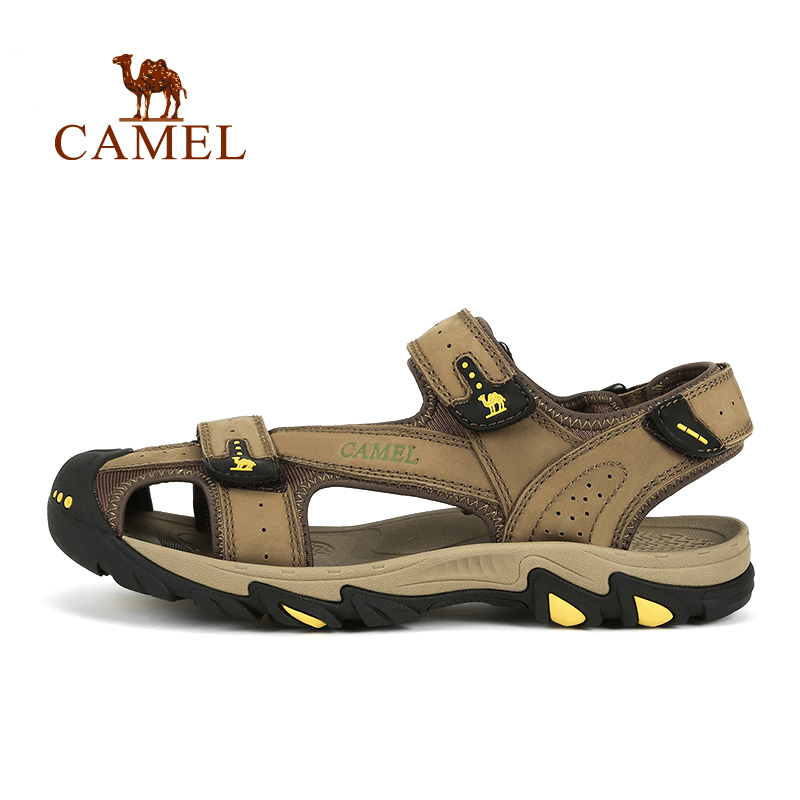 2017 new camel outdoor couple beach shoes female cowhide non-slip wear comfortable breathable sandals A72309610 2016 summer new boys and girls shoes korean sports beach sandals wear non slip