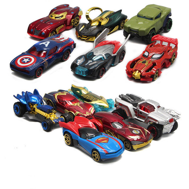 1:64 Alloy Car Diecasts & Toy Vehicles The Avengers And Justice league Car Model Toy Car toys & hobbies Christmas Gift
