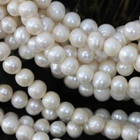 Elegant White Natural Freshwater Cultured Pearl Loose Beads 9 10mm Fashion Fit Diy Wholesale Retail Fine