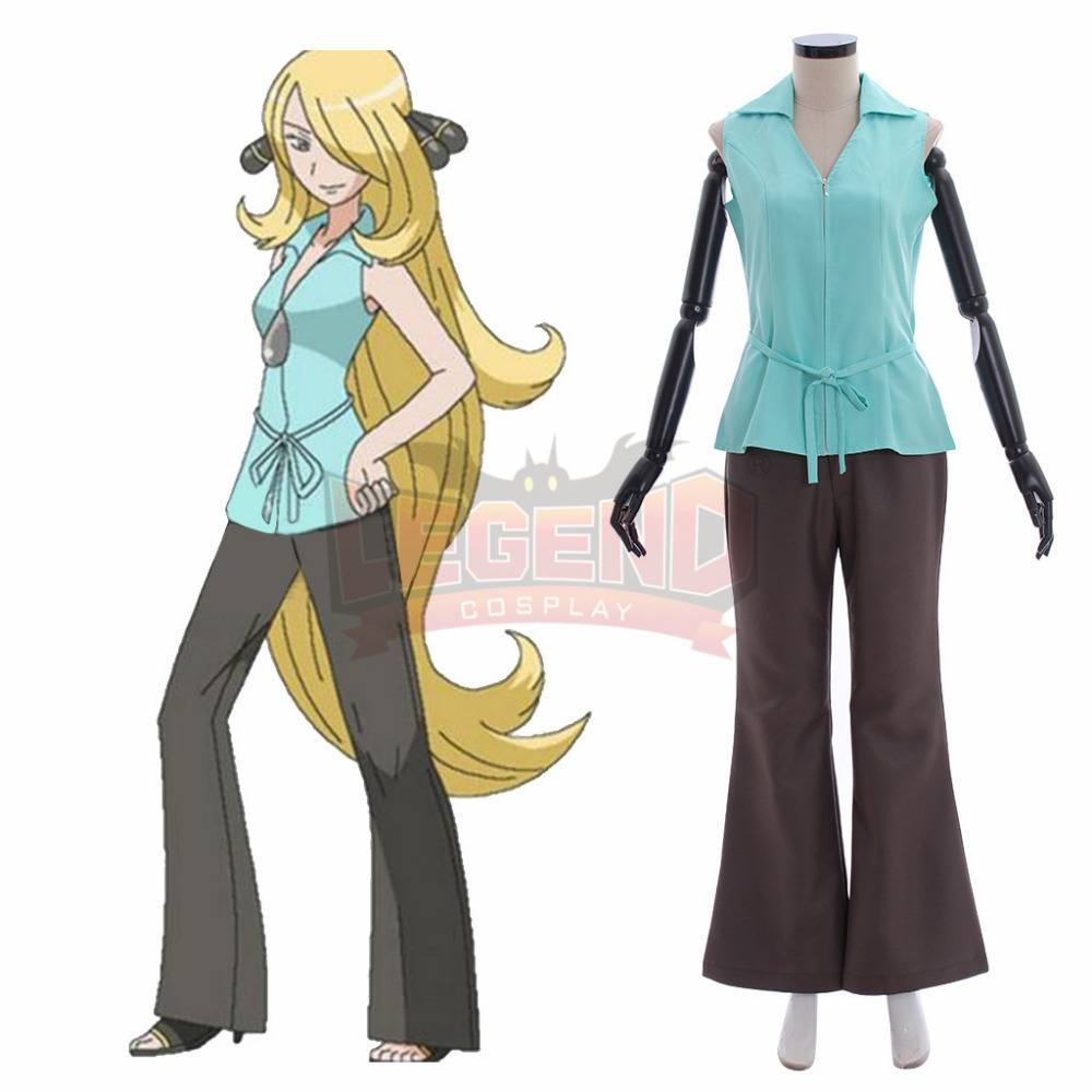 Angelica Y Cintia us $57.0 |game pokemon sun and moon cynthia cosplay costume suit all size  custom made full set-in game costumes from novelty & special use on