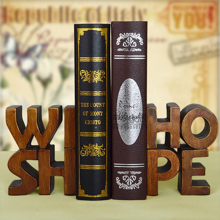 ФОТО Fashion fashion american vintage british style resin books bookend book end bookend set