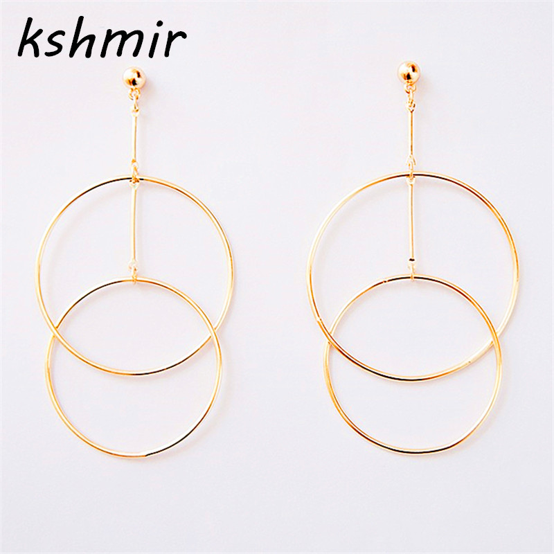 Accessories wholesale new personality texture Ms circle composite eardrop of earring stud earrings Ms round stud earrings