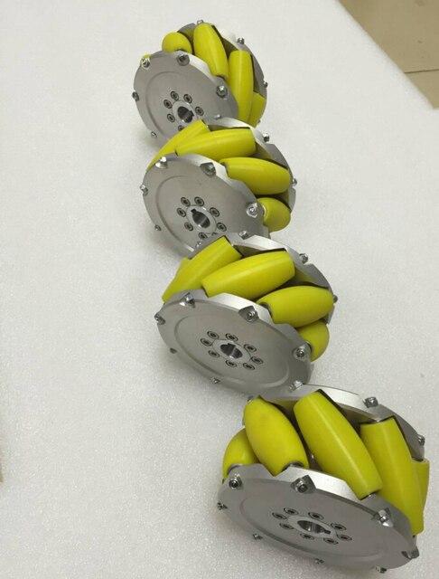 مجموعة من 5 بوصة (127mm) mecanum عجلة بو الأسطوانة (cacipity تحميل 200 KG) NM127A