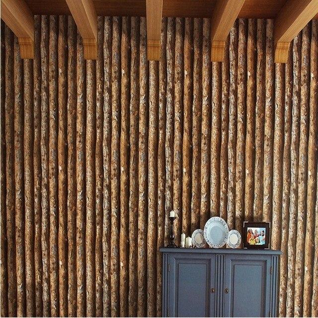 Freies Verschiffen Retro Chinesischen Stil Nachahmung Rinde Holz Tapete  Eigenschaften Restaurant Cafe Bekleidungsgeschäft Tapete