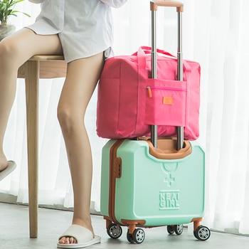 2018 Fashion Travel Bags WaterProof Travel Vacation Large Capacity Luggage Bags Women Nylon Folding Bag Travel Handbags Travel Bags & Luggage