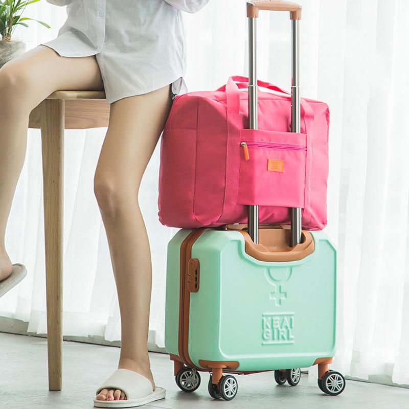 Fashion Travel Bags WaterProof Travel Vacation Large Capacity Luggage Bags Women Nylon Folding Bag Travel Handbags