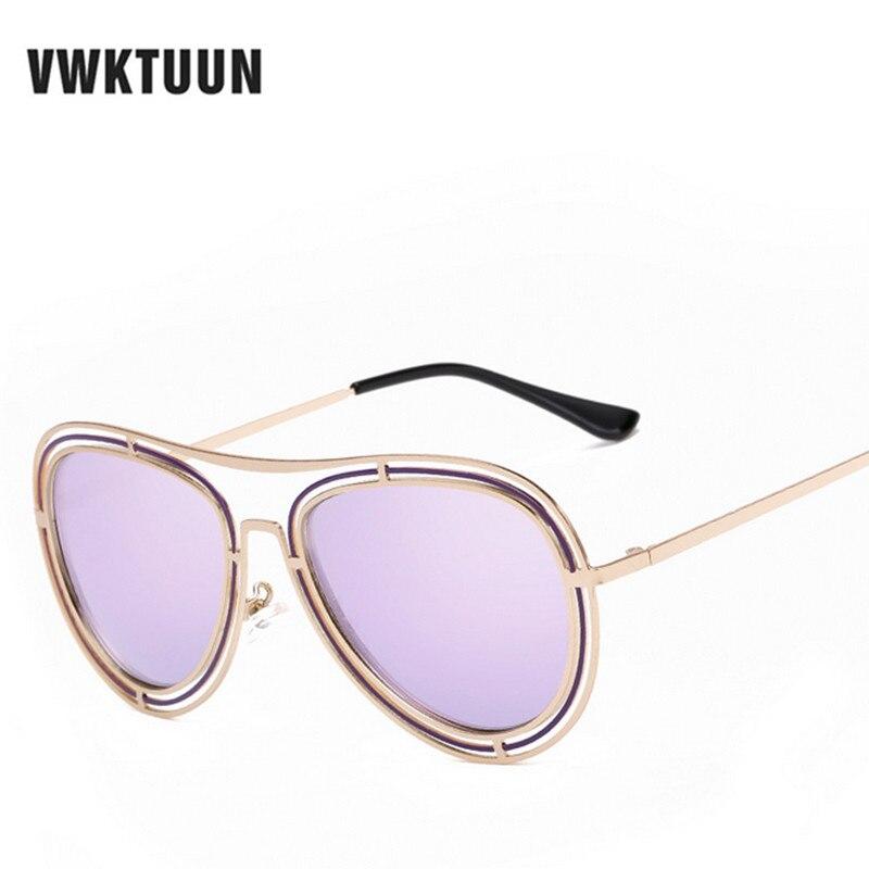 VWKTUUN Mode Ronde lunettes de Soleil Femmes Hommes Pilote Conduite Miroir  Shades Lunettes de Soleil Pour Femme Homme Sport Lunettes Rétro oculos b62ab70625a4