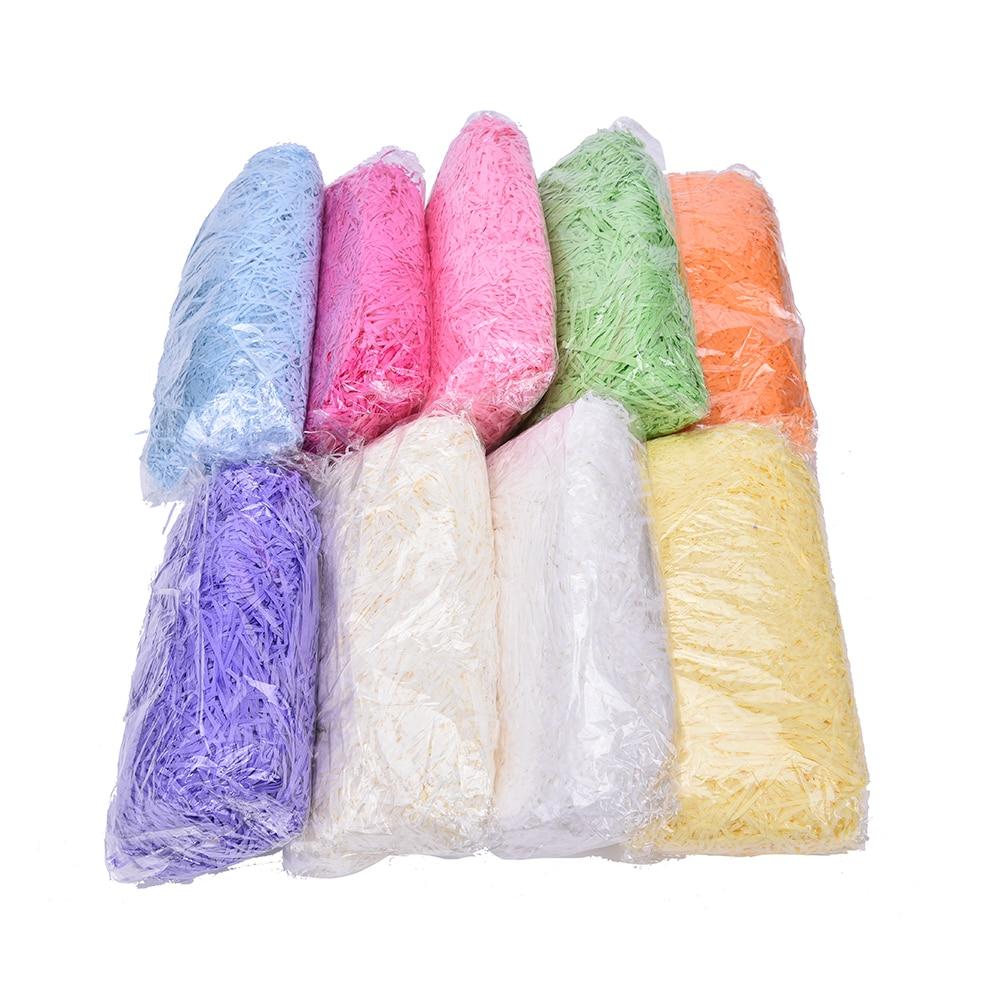 Arts Crafts Baskets Hampers 100g 6 Individual  Colours Shredded Crepe Paper