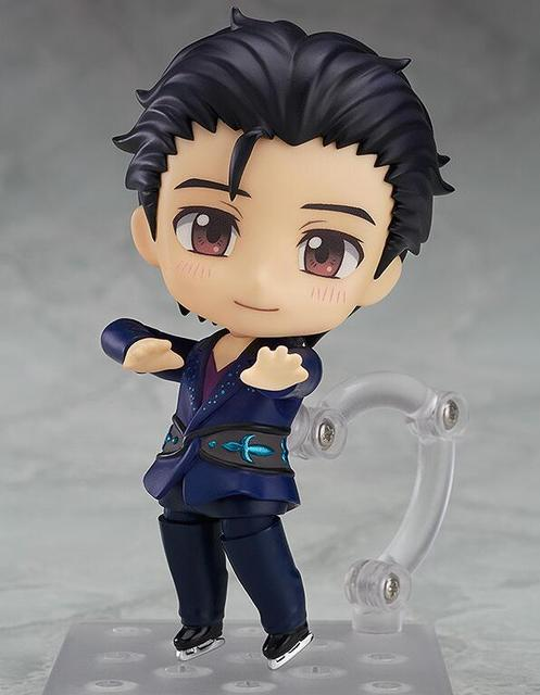 Yuri On Ice Nendoroid Action Figure Victor Nikiforov 762 PVC 10CM Doll Toy Model Anime