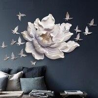 DIY 17 шт. стены стерео мюоны Спальня стены наклейки диван фоне стены украшения дома цветок и бабочки стены