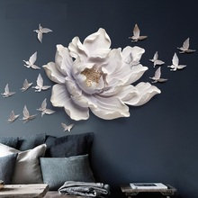 ФОТО DIY 17PCS Wall Stereo Muons Bedroom Wall Stickers Sofa Background Wall Home Decoration Flower and Butterflies Wall