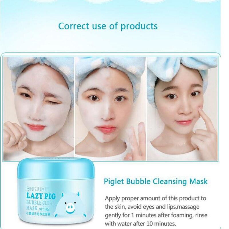 Diminuir os Poros da Pele Hidratante Cuidados Lavável Máscara 100g