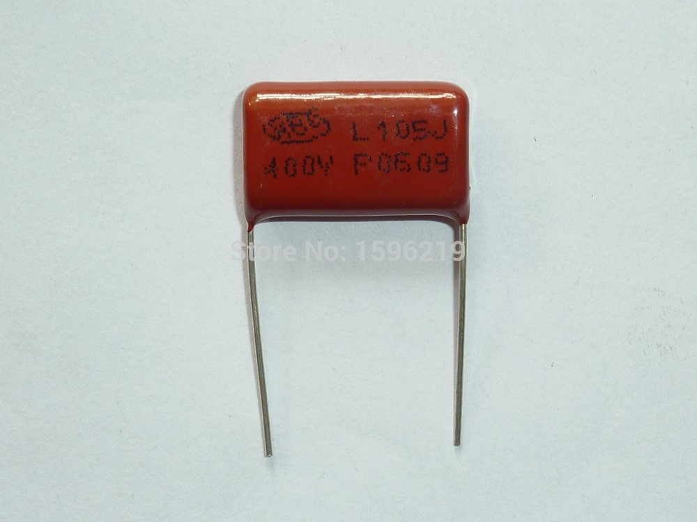 10PCS 1uF 400V CBB22 Through Hole Polypropylene Film Capacitors