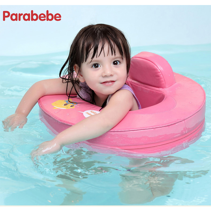 49X46CM solid Baby Swimming Ring Swim Seat Non-inflatable Pool Float Baby Summer Water Pool Toy Children's spa ring tortoise sunshade inflatable toy for baby kid play water bath outdoor toy swim ring pool toy summer ride on floating boat toy