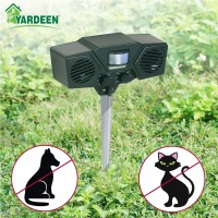 Garden Waterproof Eco Friendly Dual Speaker Ultrasonic Animal Pest Repeller Cat Dog Repellent Pest Reject Control