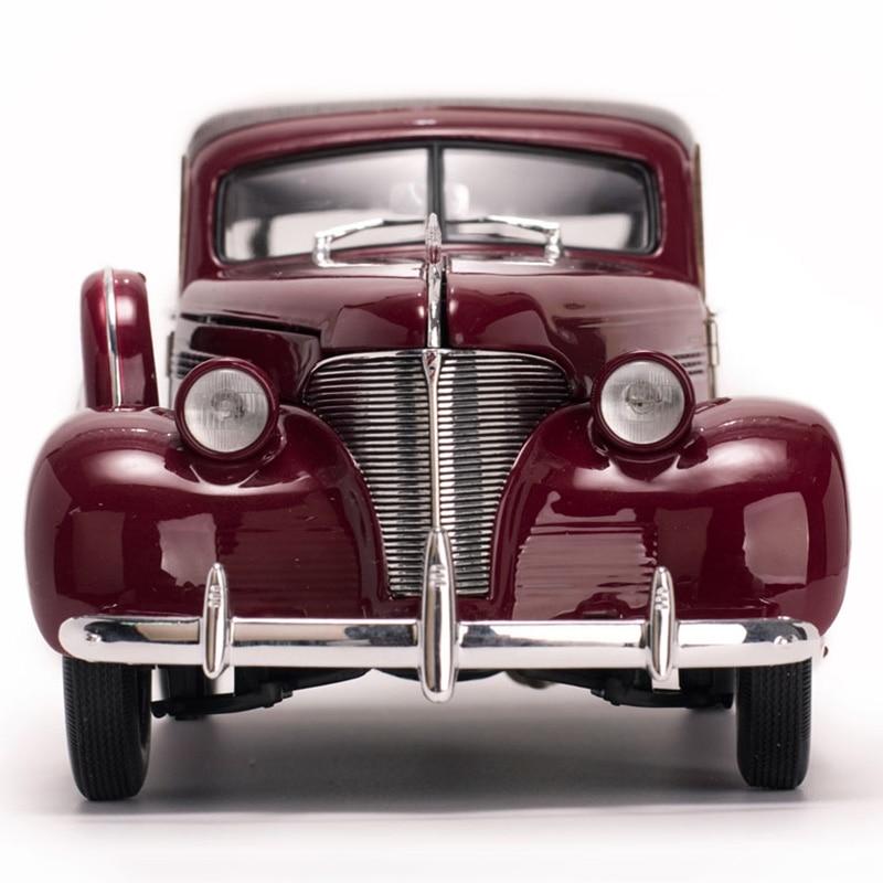 1/18 스케일 합금 다이 캐스트 1939 시보레 우디 서핑 왜건 클래식 자동차 모델 차량 팬들을위한 장난감 컬렉션 레드/그린 컬러-에서다이캐스트 & 장난감 차부터 완구 & 취미 의  그룹 1