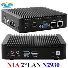 Intel Celeron N2930 2.0 ГГц процессор Dual Ethernet Порты 4 ядра Мини-ПК промышленных Мини-ПК с одной или четыре com